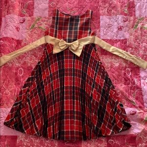 Girls black red and gold dress